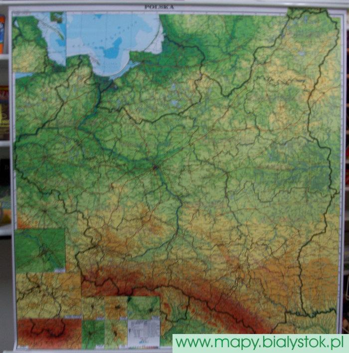 Polska 1939 R Mapa ścienna Wielkoformatowa 1500 000 Mapy
