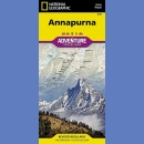 Annapurna. Nepal. Adventure Travel Map 1:135 000.