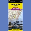 Australia Wschodnia (Australia East). Adventure Travel Map 1:1 970 000.