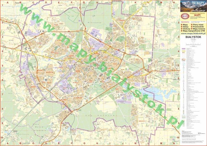 Bialystok Plan Miasta 1 12 500 Arkusz Foliowany Plano Mapy