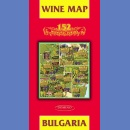 Bułgaria (Bulgaria. Wine map). Mapa winnic.