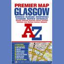 Glasgow. Plan miasta 1:19 000. Premium Map.