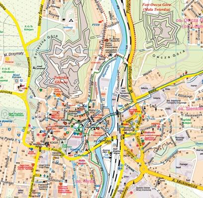 Klodzko Kotlina Klodzka Plan Miasta 1 8 000 Mapa Turystyczna 1