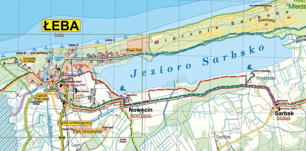 Leba I Okolice Mapa Turystyczna 1 50 000 Plan 1 10 000 Mapy