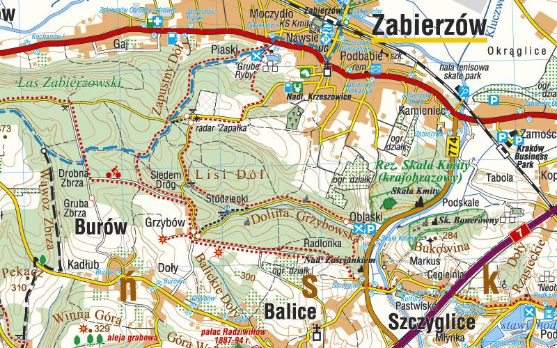 Okolice Krakowa Mapa Turystyczna 1 50 000 Mapy Internetowa
