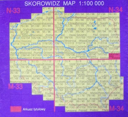 Polska Arkuszmapa Topograficzna 1 100 000 Wydanie Turystyczne