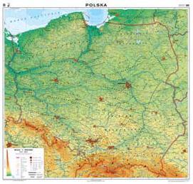 Polska Mapa Fizyczna Ogolnogeograficzna 1 500 000 Dwustronna