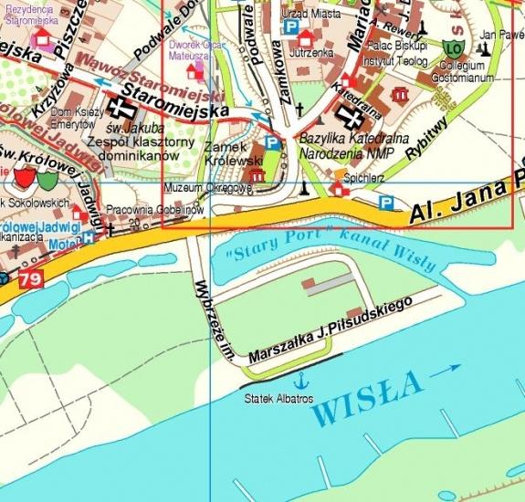 Sandomierz I Okolice Mapa Turystyczna 1 50 000 Plan Miasta 1 11