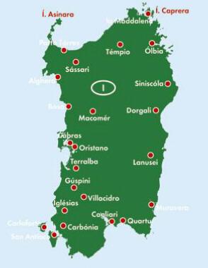 Sardynia Cagliari Mapa Samochodowa 1 150 000 Mapy