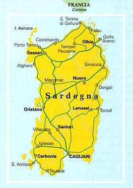 Sardynia Sardegna Mapa Turystyczna I Samochodowa 1 200 000