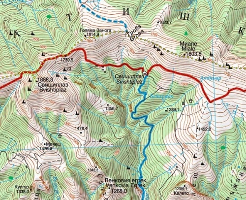 stara planina mapa Stara Płanina 1. Zlatic Kalofer. Mapa turystyczna 1:50 000  stara planina mapa