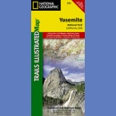 Yosemite National Park. California, USA. Outdoor Recreation Map 1:80 000.