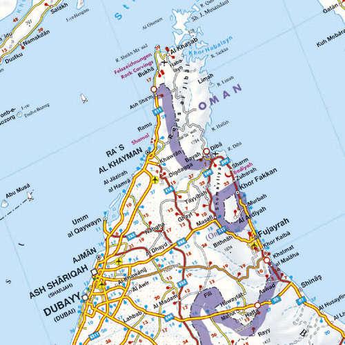 Zatoka Perska Zjednoczone Emiraty Arabskie Kuwejt Oman Mapa
